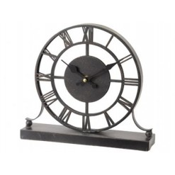 Antique Grey Mirrored Mantel Clock
